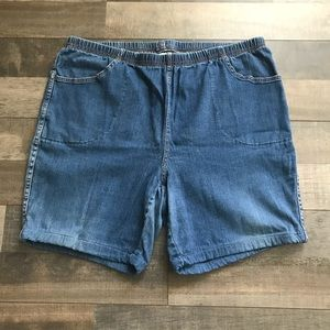 Just My Size Blue Jean Shorts 2X